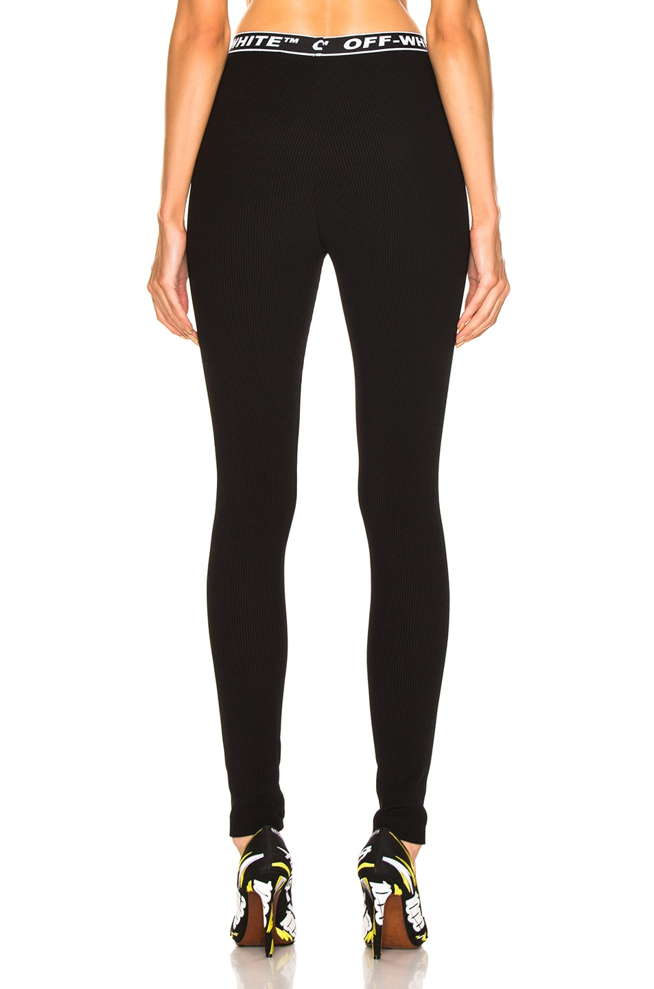 Image 3 of OFF-WHITE Cannette Simple Leggings in Black