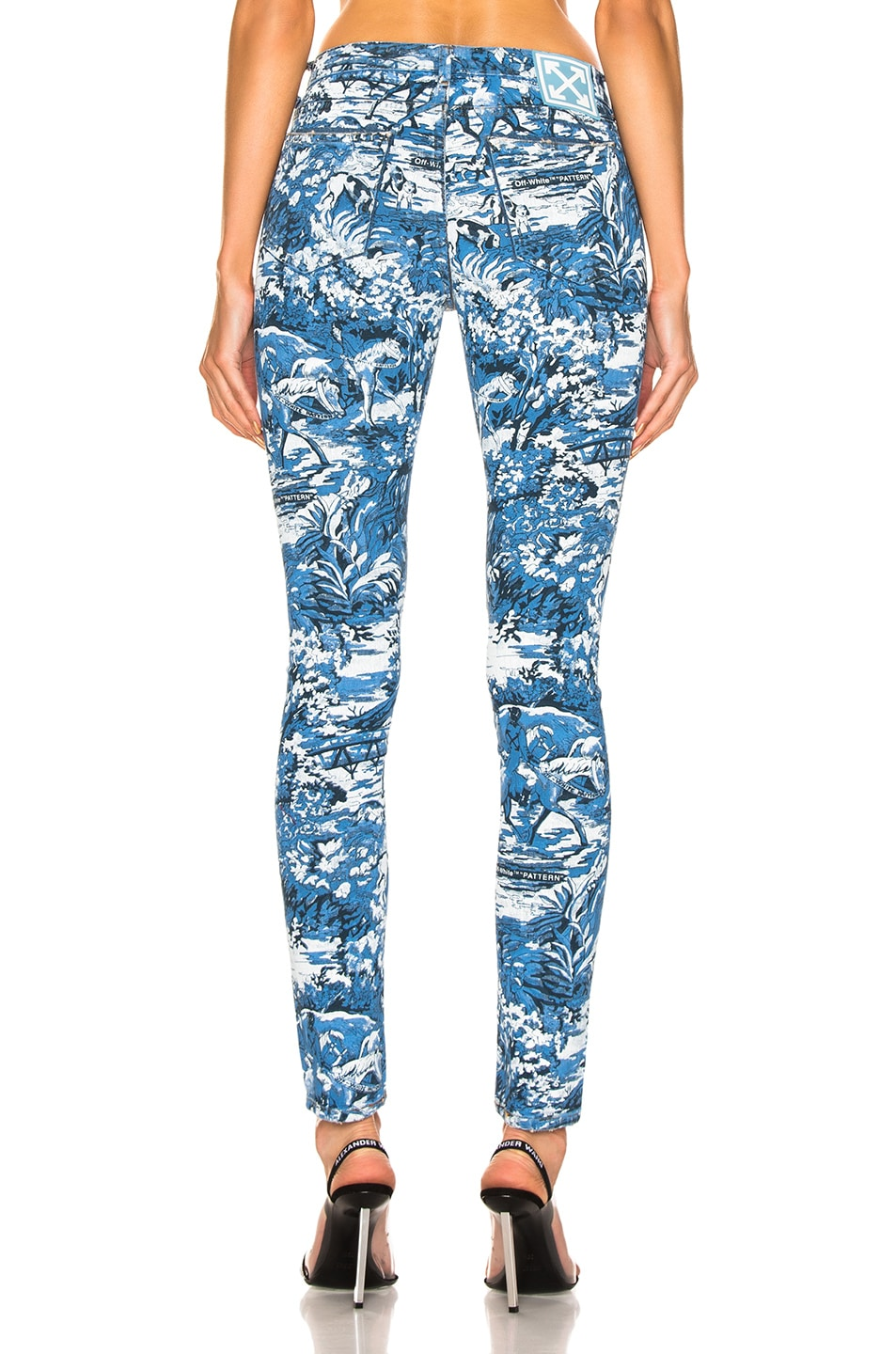 Image 3 of OFF-WHITE Tapestry 5 Pocket Pants in Blue Wash