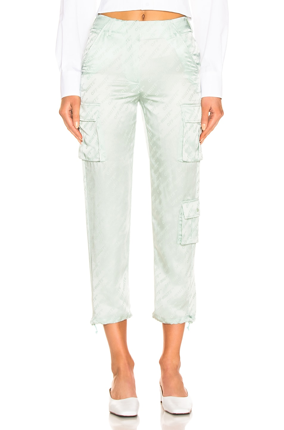 Image 1 of OFF-WHITE Cargo Pant in Light Green
