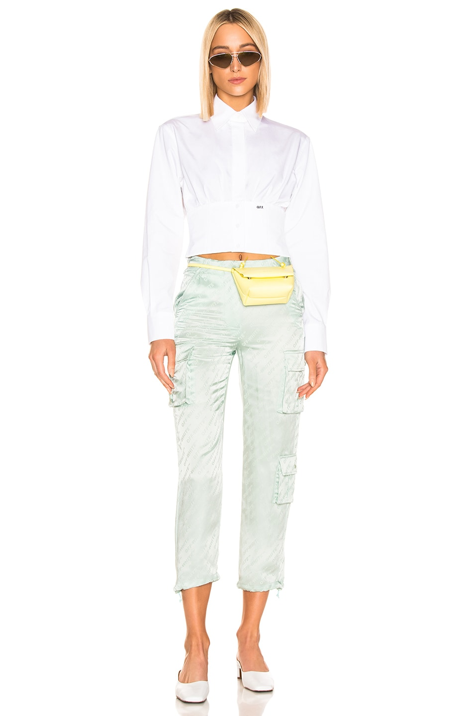Image 4 of OFF-WHITE Cargo Pant in Light Green