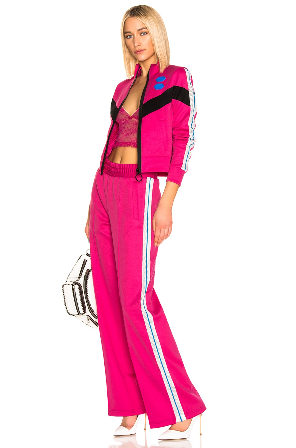 Image 5 of OFF-WHITE Gym Track Pant in Fuchsia