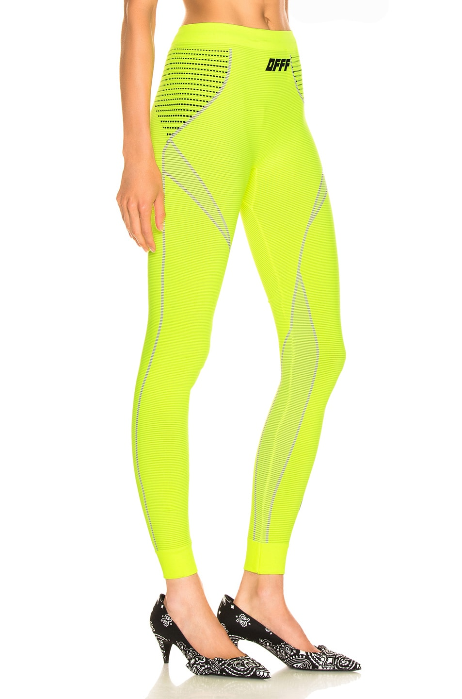 Image 2 of OFF-WHITE Athletic Legging in Fluo Yellow