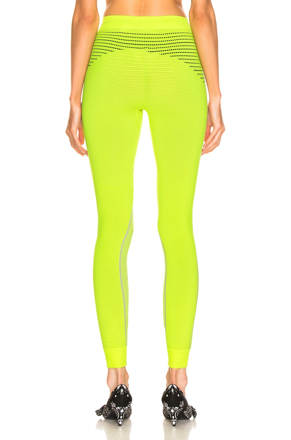 Image 4 of OFF-WHITE Athletic Legging in Fluo Yellow