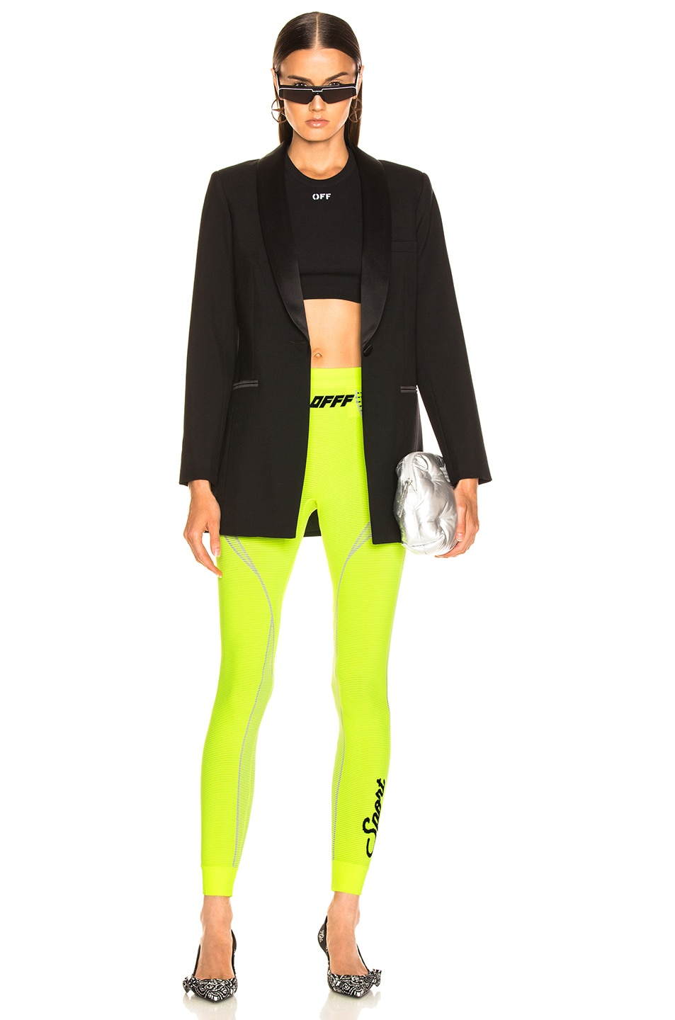Image 5 of OFF-WHITE Athletic Legging in Fluo Yellow