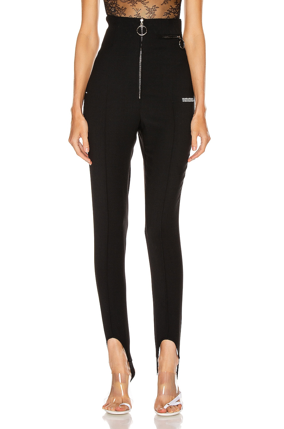 Image 1 of OFF-WHITE High Waisted Fitted Pant in Black