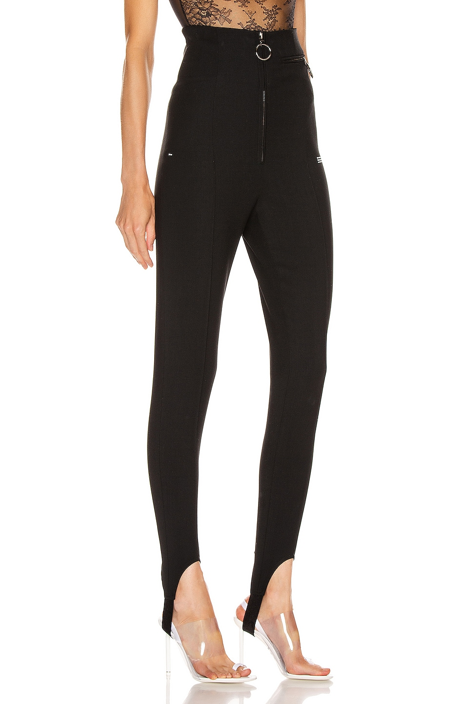 Image 2 of OFF-WHITE High Waisted Fitted Pant in Black