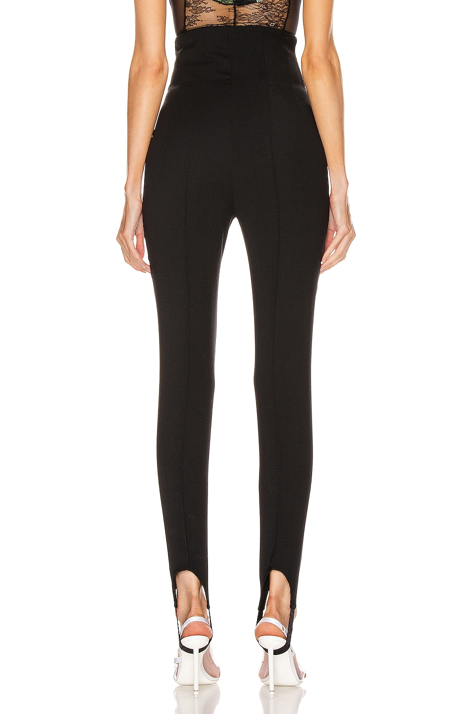 Image 3 of OFF-WHITE High Waisted Fitted Pant in Black