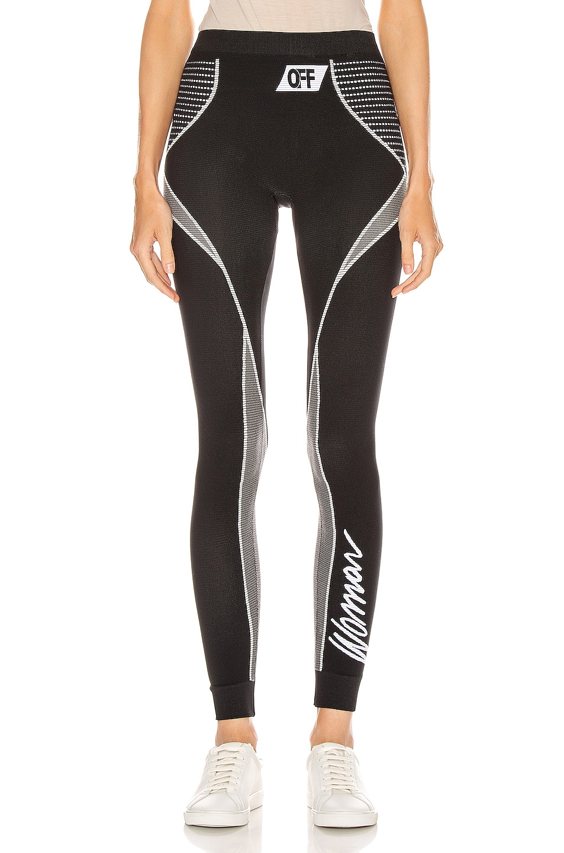 Image 1 of OFF-WHITE Athletic Legging in Black & White