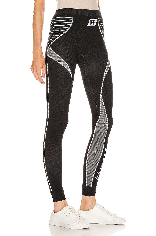 Image 2 of OFF-WHITE Athletic Legging in Black & White