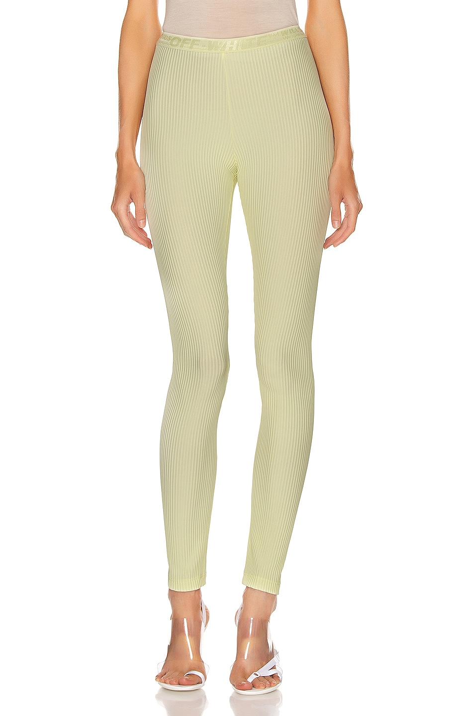 Image 1 of OFF-WHITE Ribbed Legging in Yellow