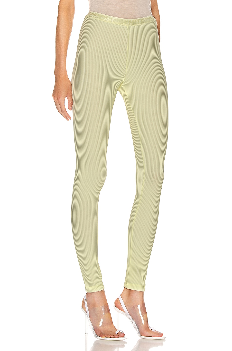 Image 2 of OFF-WHITE Ribbed Legging in Yellow
