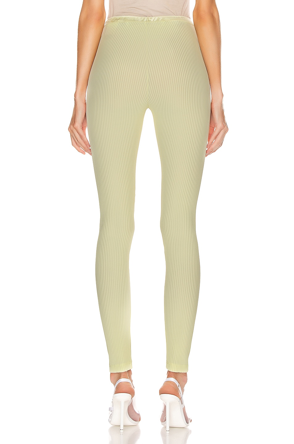 Image 3 of OFF-WHITE Ribbed Legging in Yellow