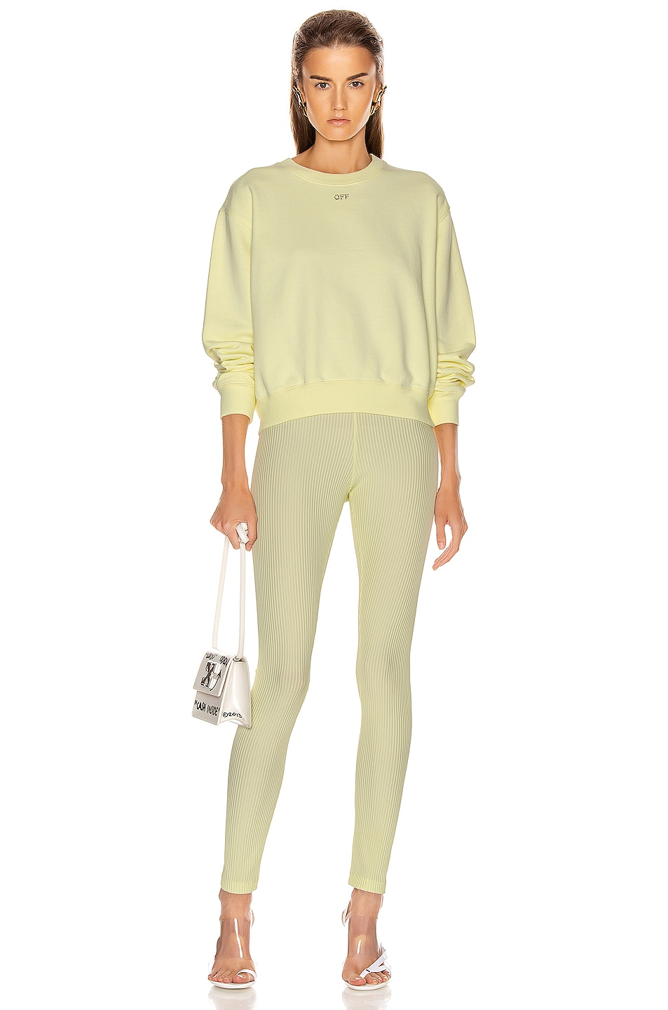 Image 4 of OFF-WHITE Ribbed Legging in Yellow