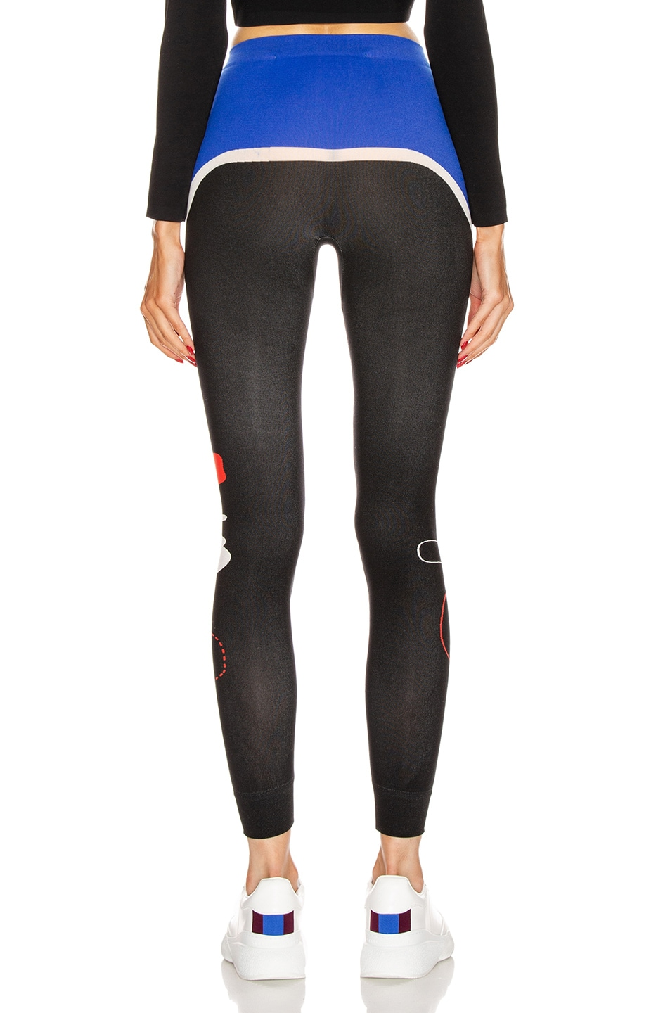 Image 4 of OFF-WHITE Organic Shape Legging in Mutlicolor Red