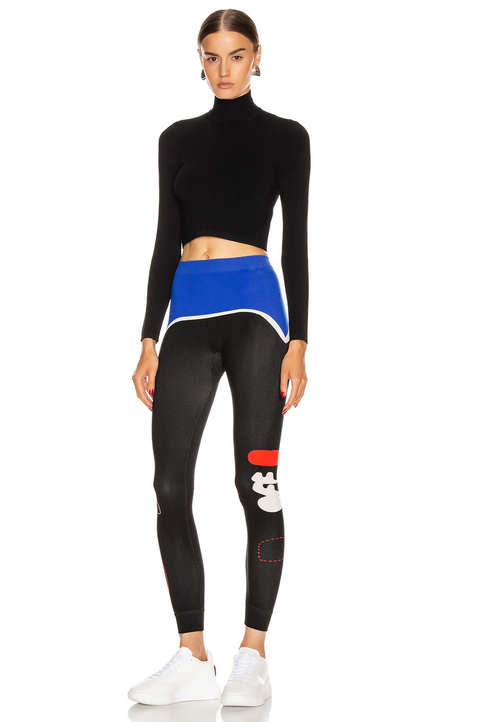 Image 5 of OFF-WHITE Organic Shape Legging in Mutlicolor Red