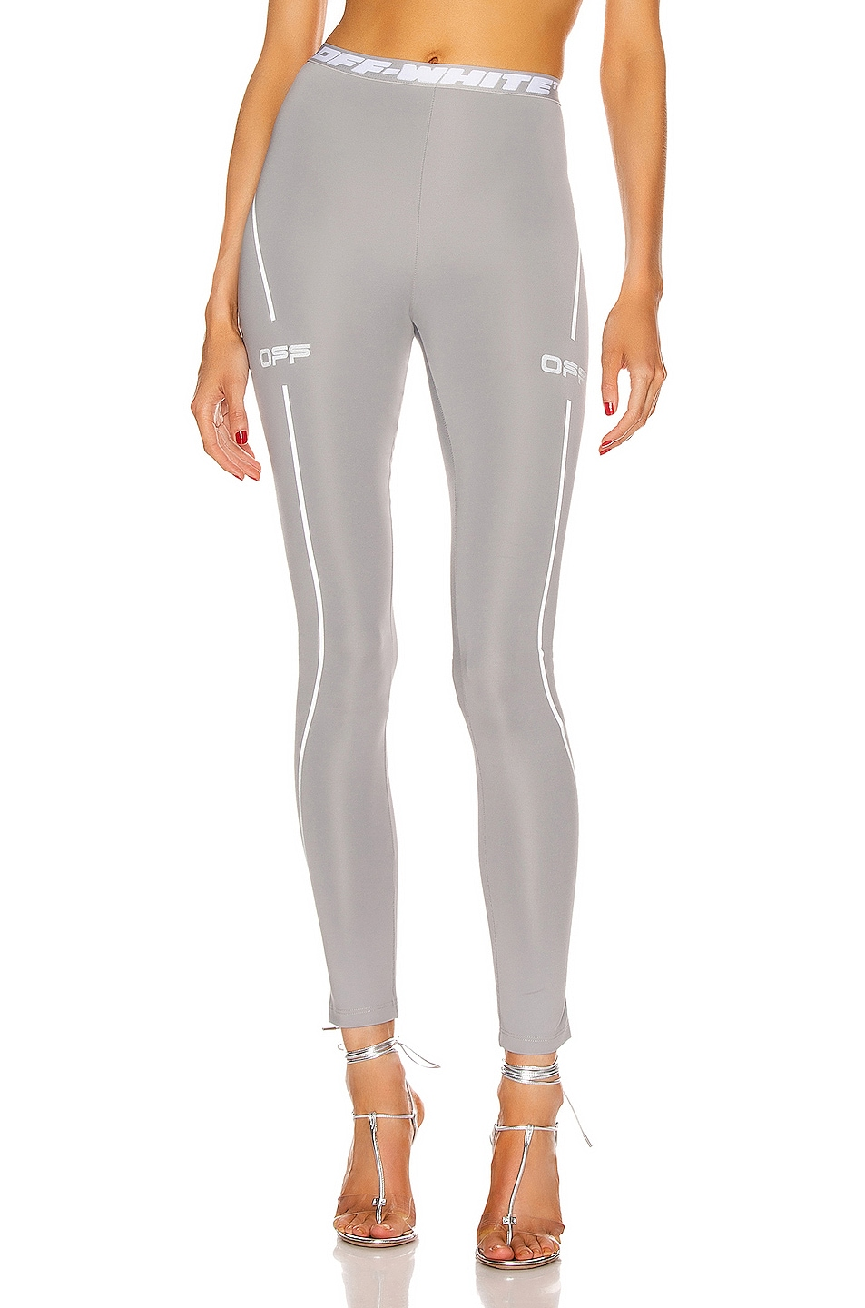 Image 1 of OFF-WHITE Active Leggings in Grey