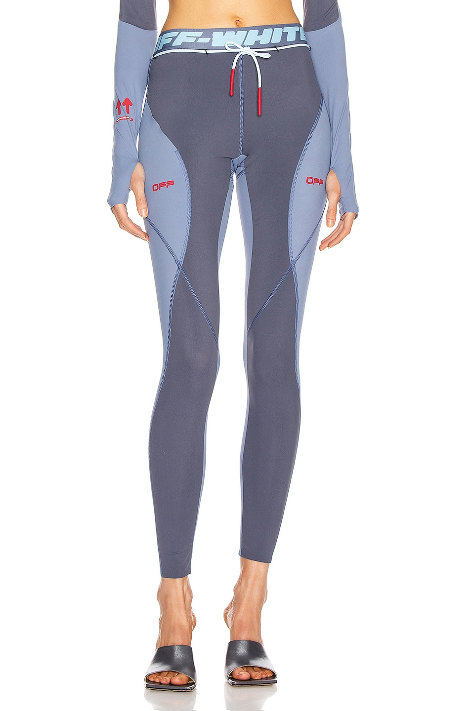 Image 1 of OFF-WHITE Active Legging in Grey & Red
