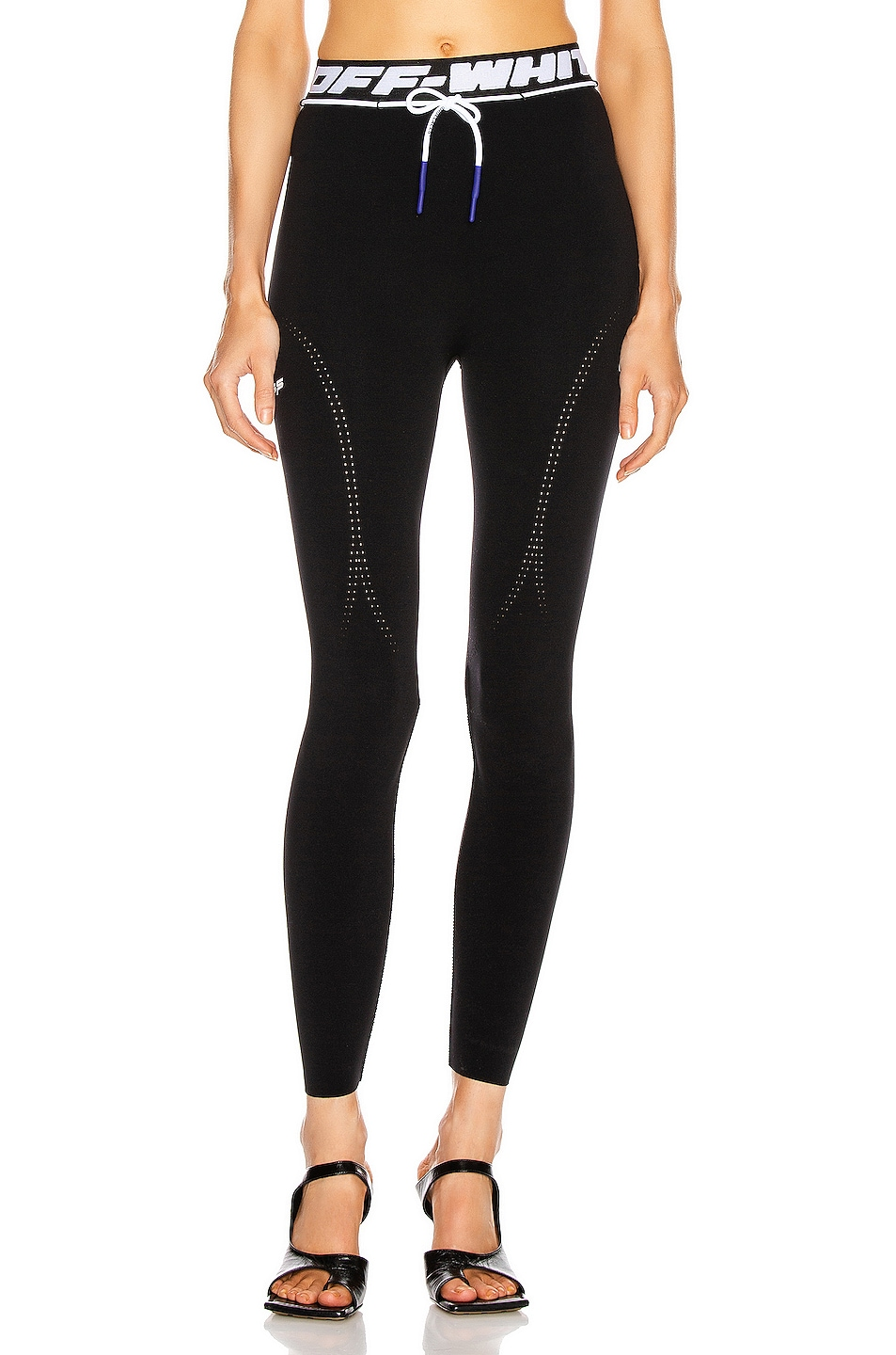 Image 1 of OFF-WHITE Active Seamless Leggings in Black