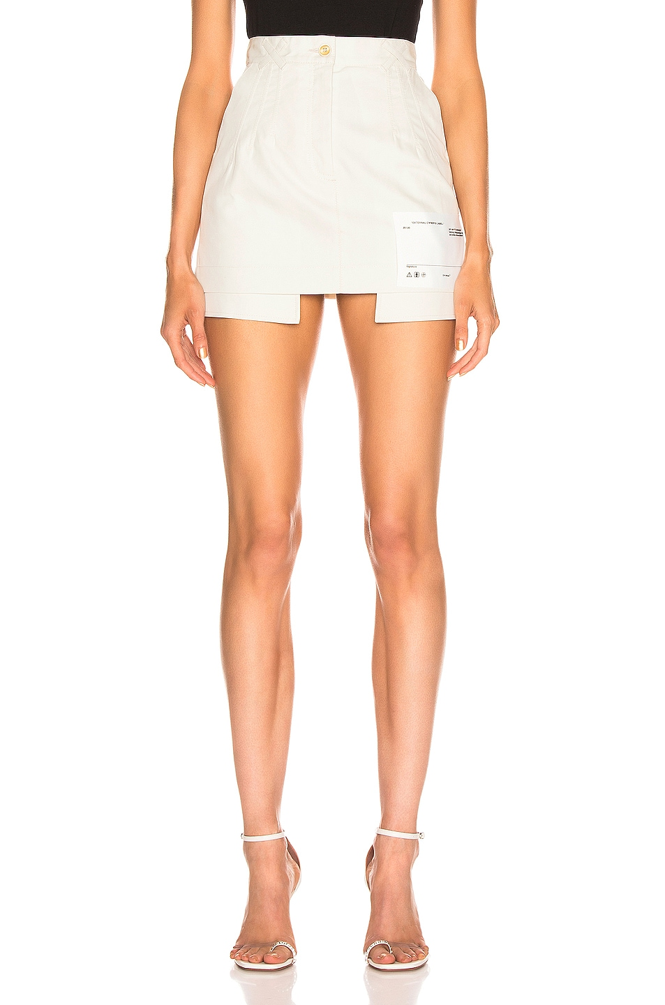 Image 1 of OFF-WHITE Pockets Out Mini Skirt in White