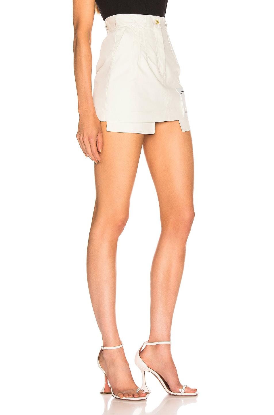 Image 2 of OFF-WHITE Pockets Out Mini Skirt in White