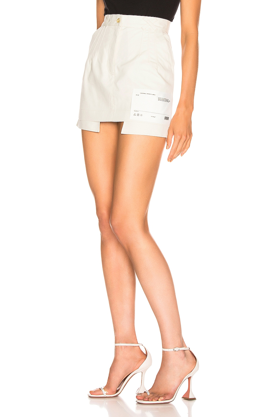 Image 3 of OFF-WHITE Pockets Out Mini Skirt in White