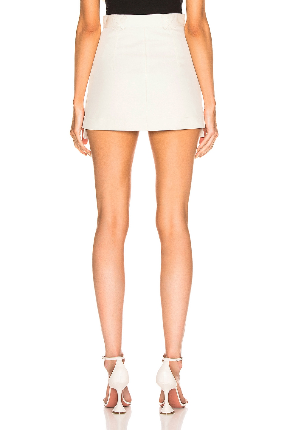 Image 4 of OFF-WHITE Pockets Out Mini Skirt in White