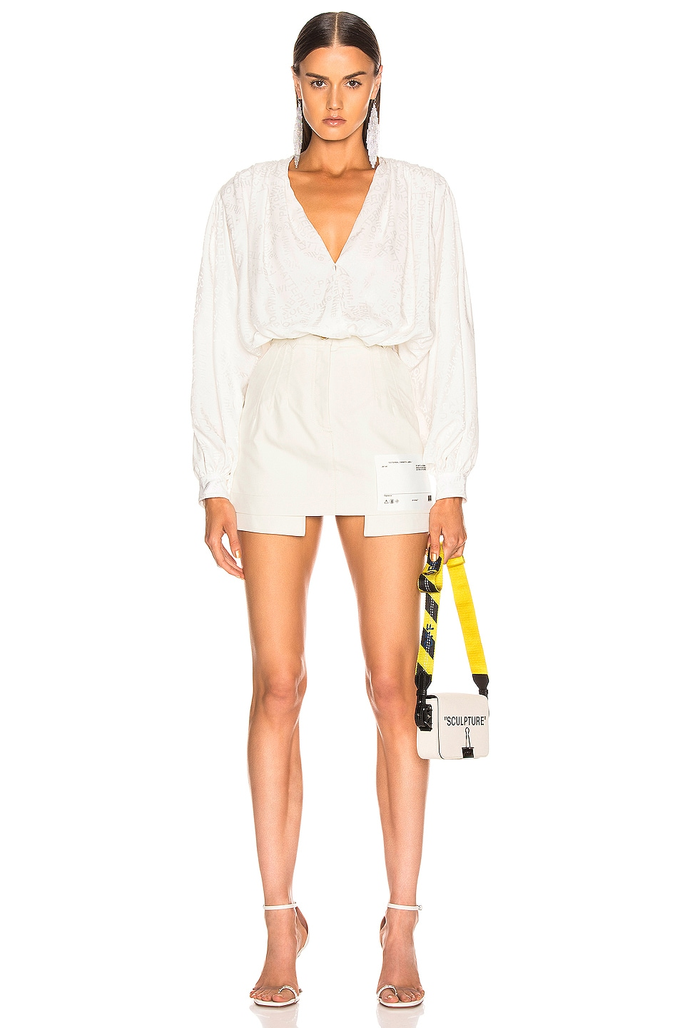 Image 5 of OFF-WHITE Pockets Out Mini Skirt in White