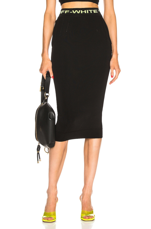 Image 1 of OFF-WHITE Knit Long Skirt in Black