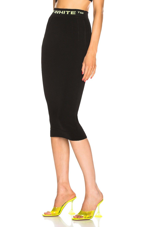 Image 3 of OFF-WHITE Knit Long Skirt in Black