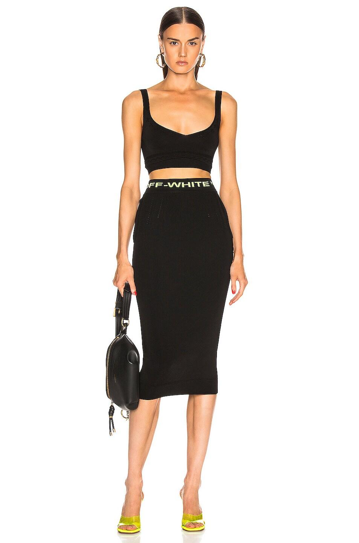 Image 5 of OFF-WHITE Knit Long Skirt in Black