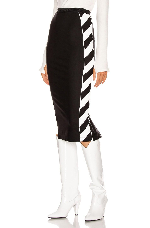 Image 1 of OFF-WHITE Diagonal Athletic Skirt in Black & White
