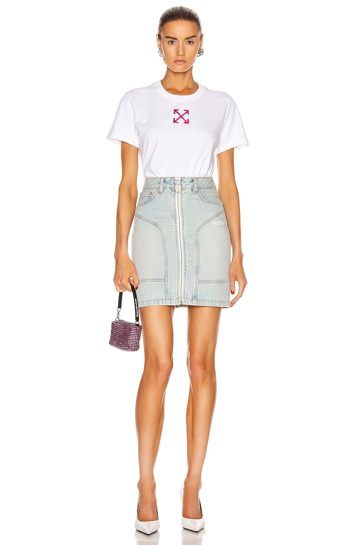 Image 5 of OFF-WHITE Pocket Detail Skirt in Bleach
