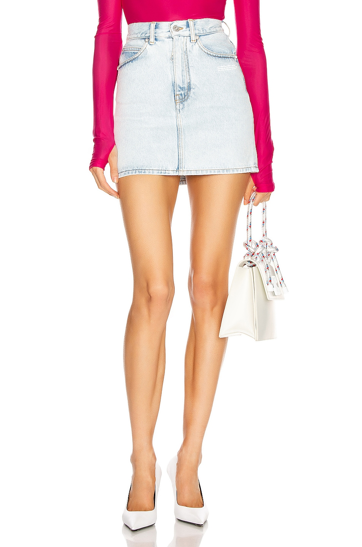 Image 1 of OFF-WHITE Mini Skirt in Light Blue