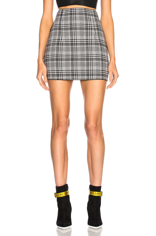 e838b6101 Image 1 of OFF-WHITE Zip Back Mini Skirt in Black Check