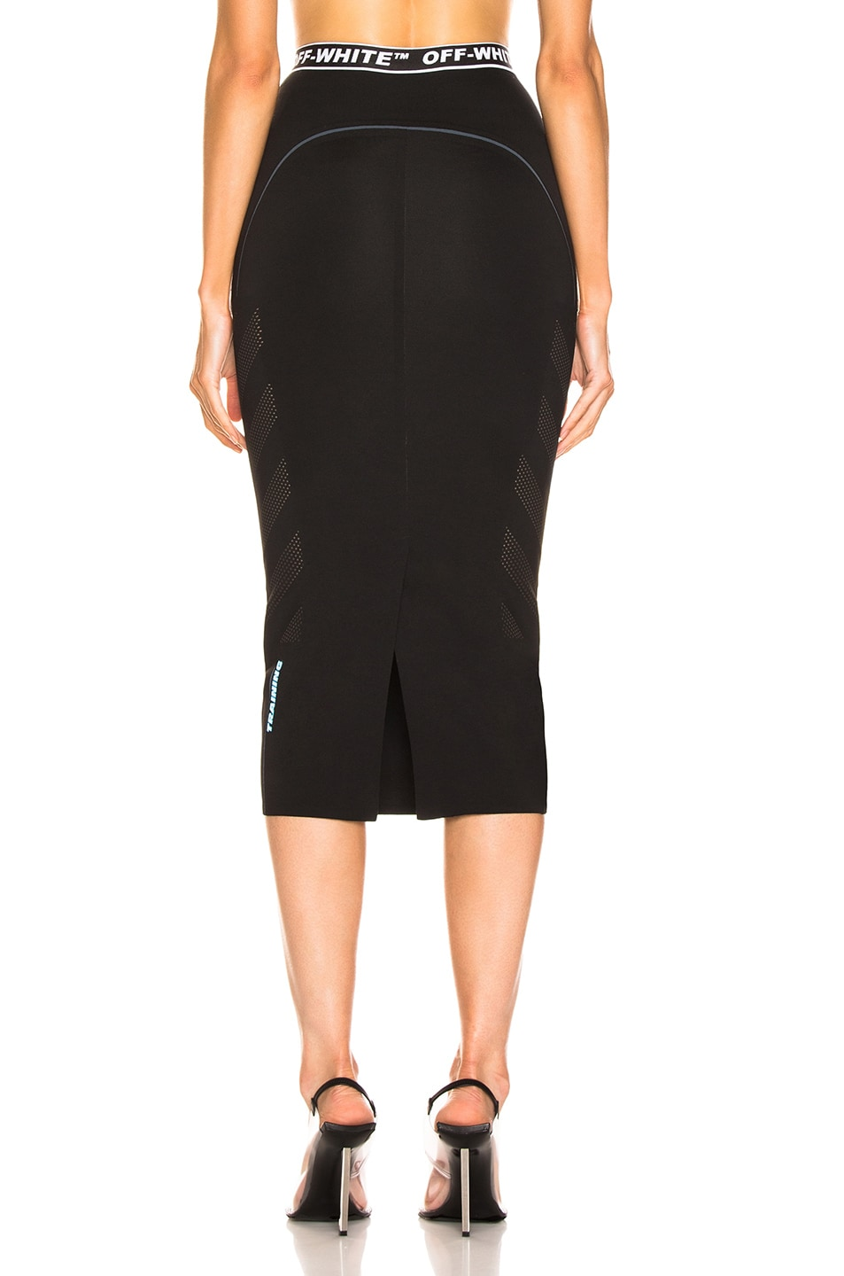 Image 3 of OFF-WHITE Diag Simple Skirt in Black