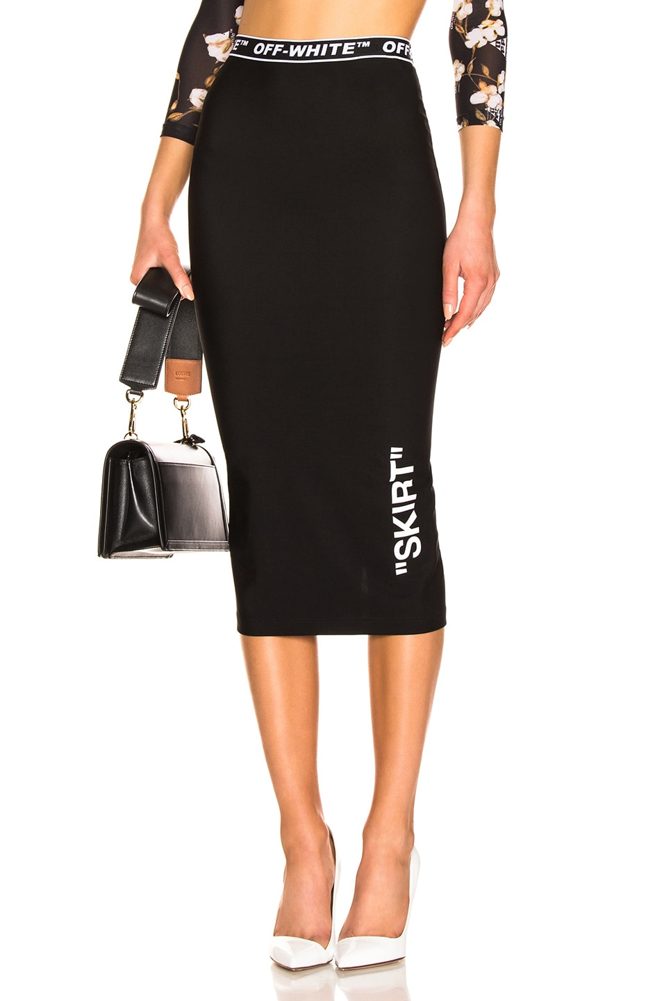 Image 1 of OFF-WHITE Pencil Skirt in Black