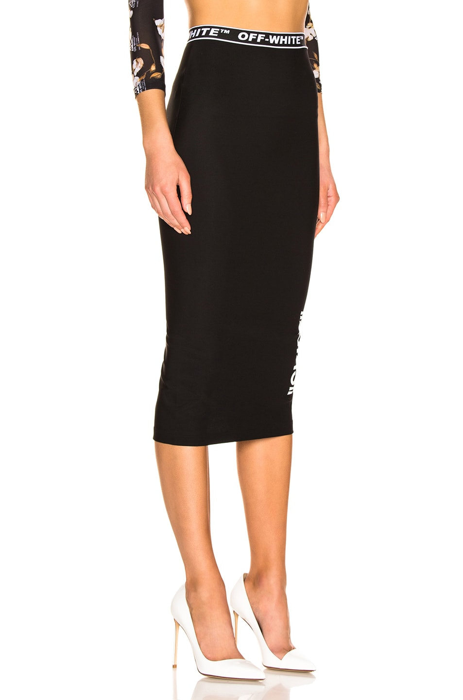 Image 2 of OFF-WHITE Pencil Skirt in Black