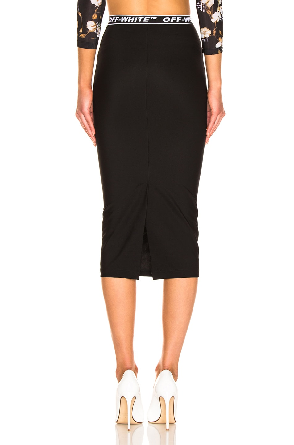 Image 3 of OFF-WHITE Pencil Skirt in Black