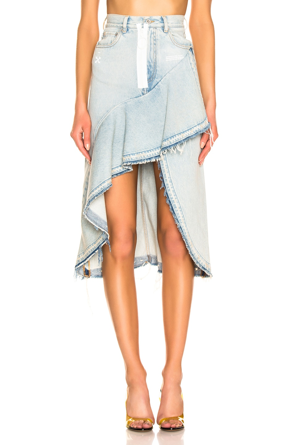 Image 1 of OFF-WHITE Ruffle Skirt in Bleach