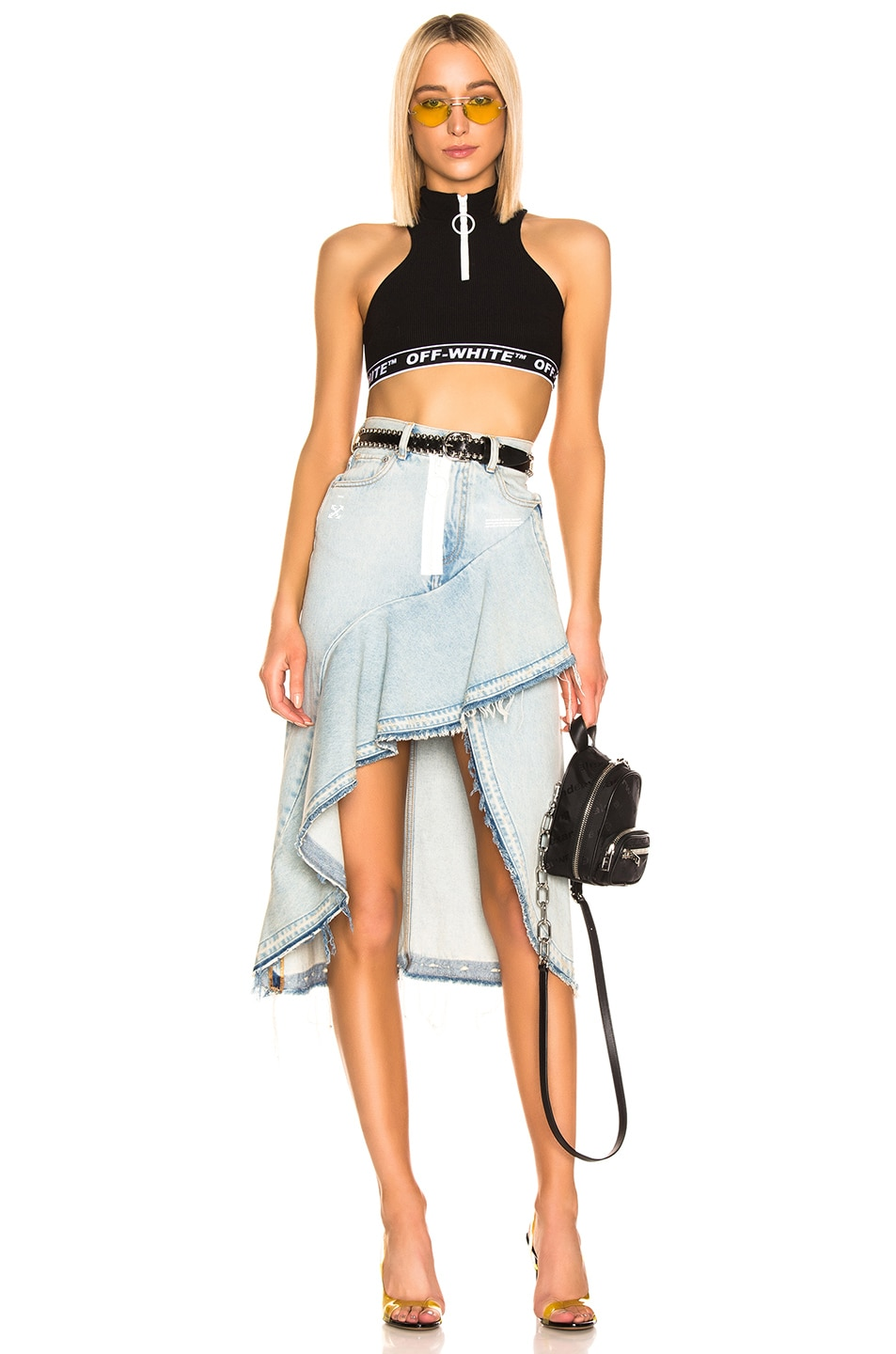 Image 4 of OFF-WHITE Ruffle Skirt in Bleach