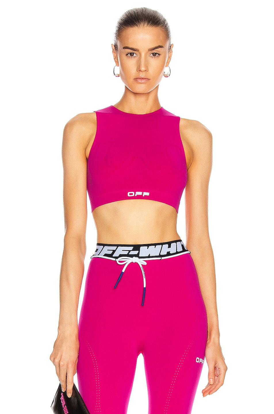 Image 1 of OFF-WHITE Active Seamless Crop Top in Fuchsia