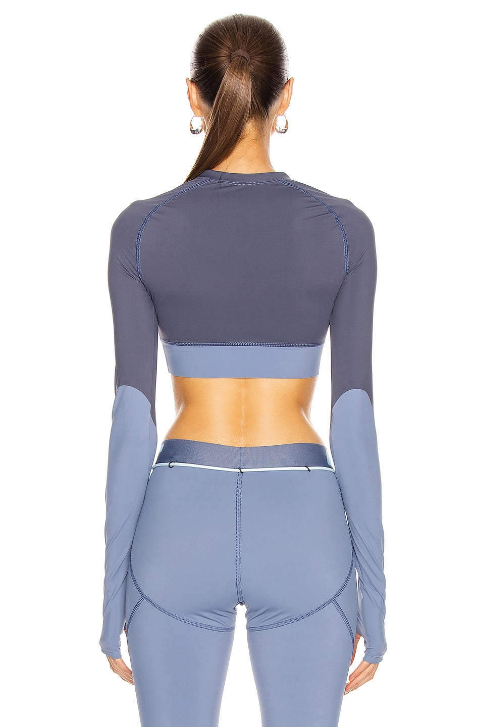 Image 4 of OFF-WHITE Active Long Sleeve Cropped Top in Grey
