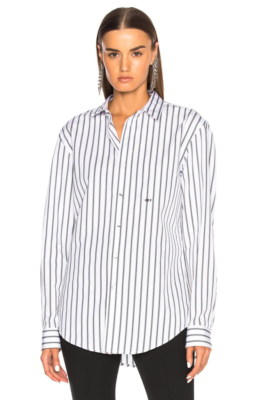 Image 2 of OFF-WHITE Basic Shirt in Black Stripe