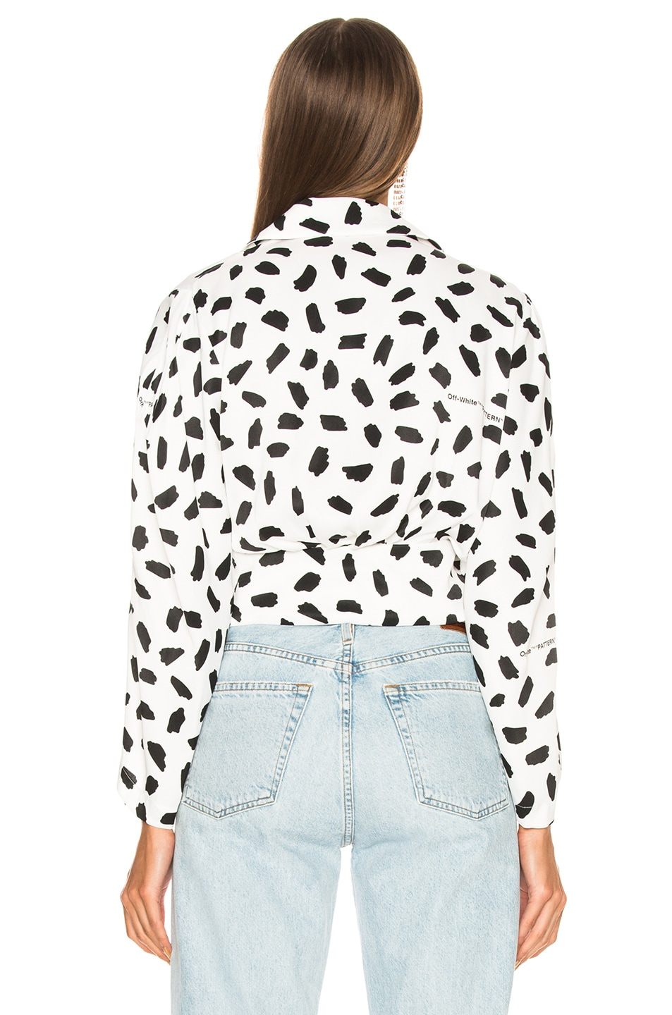 Image 4 of OFF-WHITE Puffy Sleeve Top in Black & White