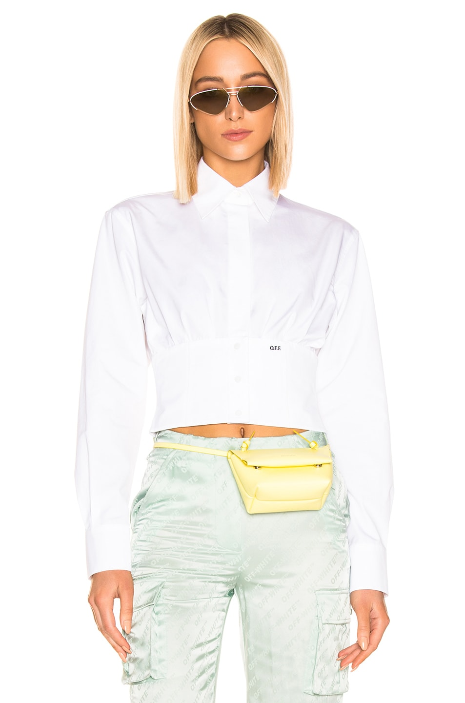 Image 1 of OFF-WHITE Corset Shirt in White