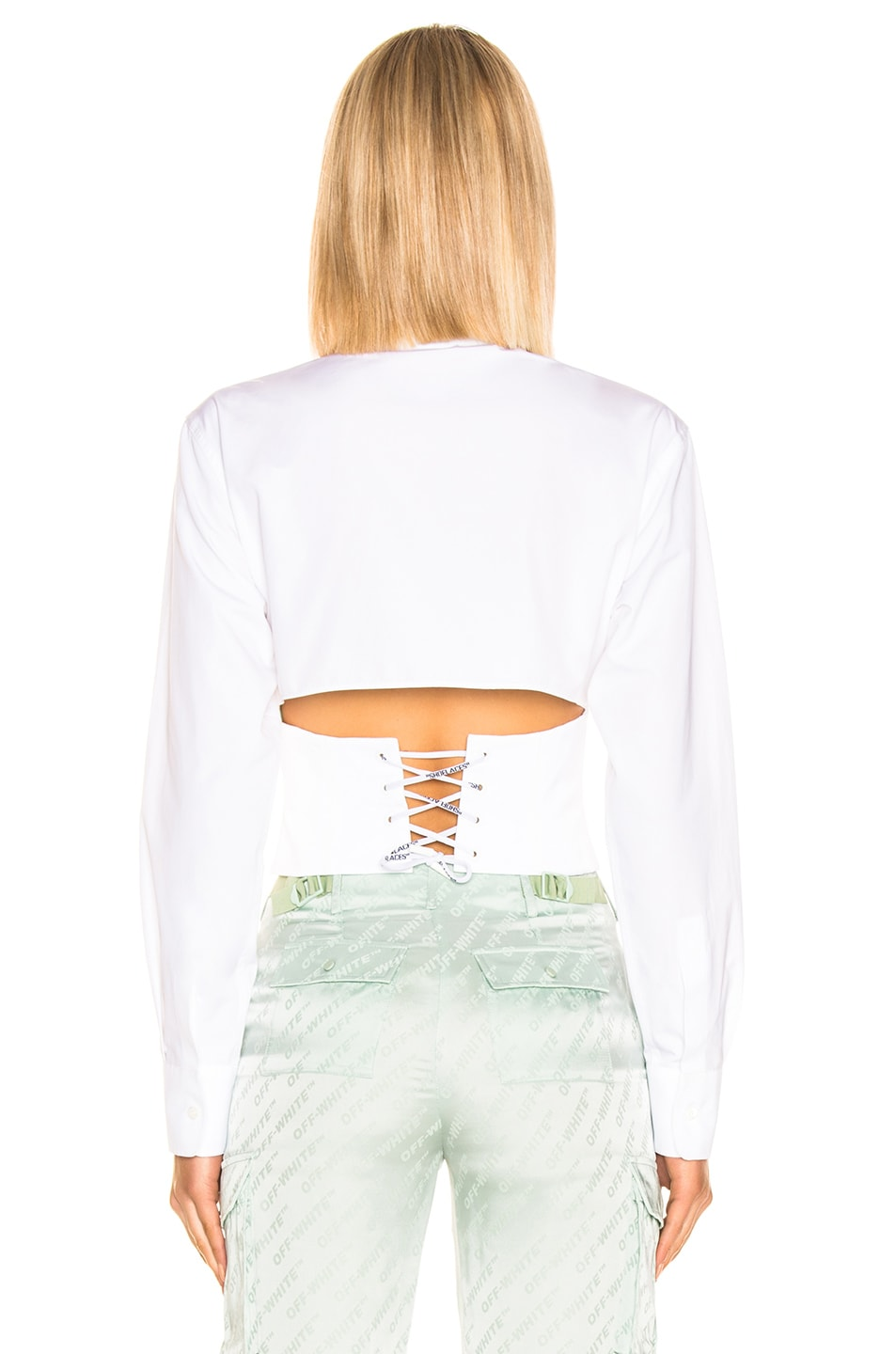 Image 3 of OFF-WHITE Corset Shirt in White