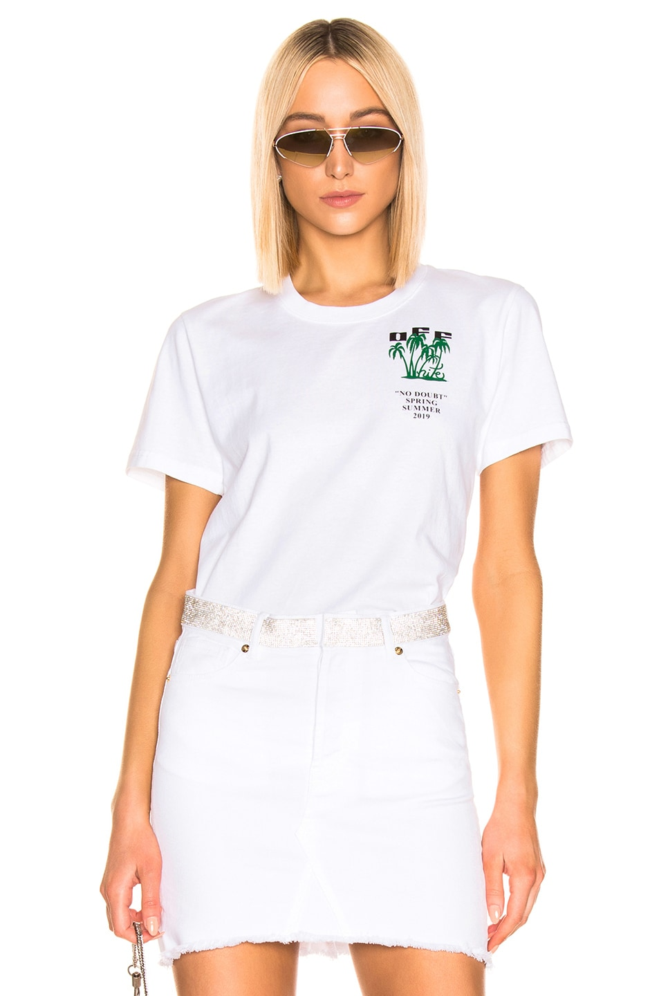 Image 2 of OFF-WHITE Island Tee in White & Green