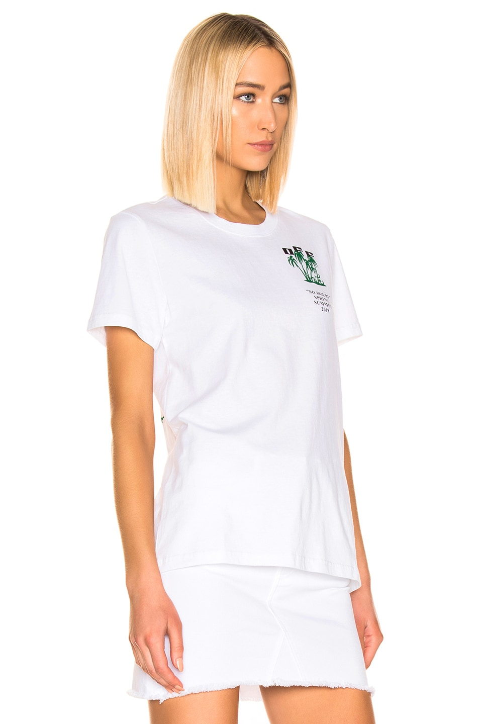 Image 3 of OFF-WHITE Island Tee in White & Green