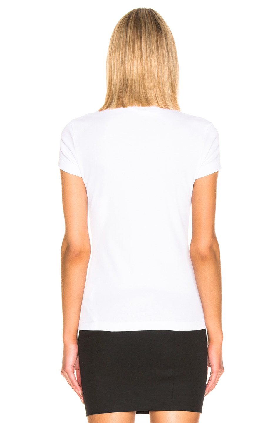 Image 3 of OFF-WHITE Fitted Tee in White & Black