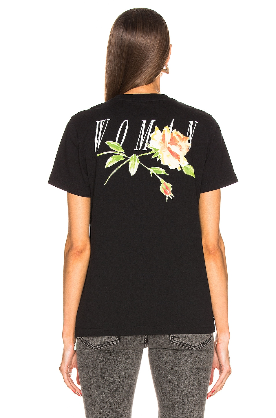 Image 3 of OFF-WHITE Flowers Woman Casual Tee in Black Multi